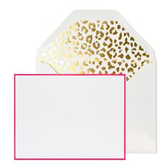 OH MY GOD, envelopes lined with gold leopard!?  I'm dying!