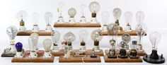 Lot 494: Electric Light Bulb Assortment; Twenty-seven early 20th century bulbs with examples from Edison Mazda, Westinghouse Mazda, National Mazda, Mazda Photoflash and The Economical Electric Lamp Co.; together with three tubes by RCA and Westinghouse