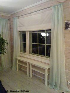 Halkaistu pöytä - Puolipöytä - Ikkunalauta - Half table - Side table - DIY - Kopallinen inspiraatiota