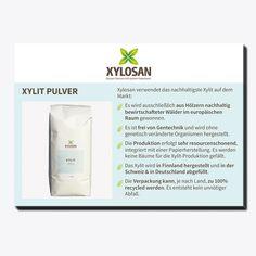 Die Postkarte gibt einen Überblick über die Vorzüge des Xylosan Xylit Pulvers.  - Format: A6 - 10 Stück