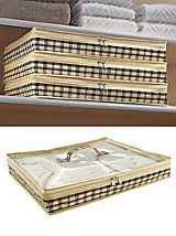 Zippered Storage Case - Helps organize the linen closet and keep bedding fresh and clean | Solutions.com