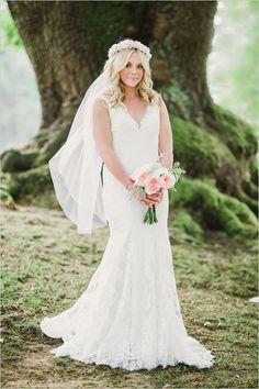 romantic bridal attire