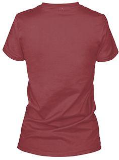Limited Edition I Pass Boys! V Neck Maroon T-Shirt Back
