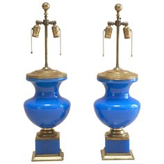 Shop table lamps and other antique, modern and contemporary lamps and lighting from the world's best furniture dealers. Yves Klein Blue, Contemporary Lamps, Opaline, Table Lamps, Cool Furniture, Ceiling Lights, Lighting, Antiques, Modern