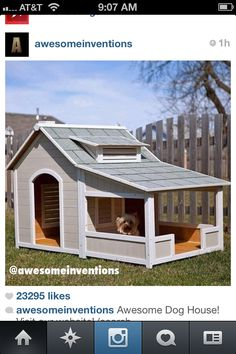 Amazing cute dog house your dog will have its own house and when your gone the do can be in his own house