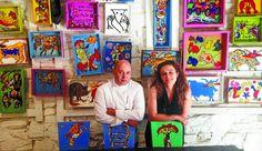 Roberto Ruiz y Cristina Pérez Garay, en el Sukaltaka de la calle Solana, participarán mañana en la mesa redonda del Tinglado. www.farmaciafrancesa.com