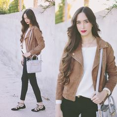 Get this look: http://lb.nu/look/7945378  More looks by María Rubio: http://lb.nu/mariarubio  Items in this look:  Stradivarius Jacket, Lovelywholesale Sweater, Lovelywholesale Bag, Zara Jeans, Zara Shoes   #casual #chic #preppy