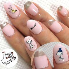 Snoopy nails by Nail D.O.G