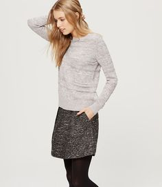 Image of Textured Stripe Sweater- my textured skirt with grey sweater