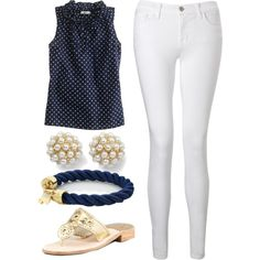 """Preppy Summer Outfit"" by elizabethandre on Polyvore"
