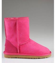UGG Kids Classic Boots Rose Red 1006891K Shop Ugg Kids, Kids Ugg Boots, Uggs, Rose, Classic, Shopping, Fashion, Derby, Moda