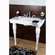 Imperial Vintage 36-inch Wall-mount Pedestal 8-inch Center Bathroom Sink Vanity $458, expensive
