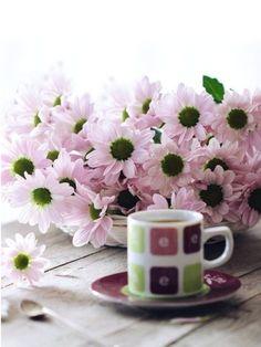 Tea, Mugs, Coffee, Tableware, Flowers, Kaffee, Dinnerware, Tumblers, Tablewares