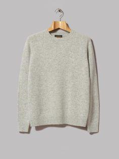 Beams Plus 5G Crew Knit (Light Grey)