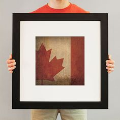Canada Flag   Flags have been used for identity and heritage for centuries, and City Prints carries on the tradition with our flag series. Flags not only represent the country, state, or city – they represent every individual who calls it home. Rep your region with a fine art print from City Prints – truly the perfect personalized gift.