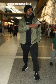 feeb4a2af204 Kanye West In Yeezy Season 3 Jacket Mens Fashion