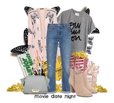 """Soft & Pink: Movie Date Night"" by christyshawn on Polyvore featuring Allurez, Visionnaire, Sincerely, Jules, WearAll, Levi's, Viktor & Rolf, Bobbi Brown Cosmetics, Michael Kors, Anne Klein and ZAC Zac Posen"