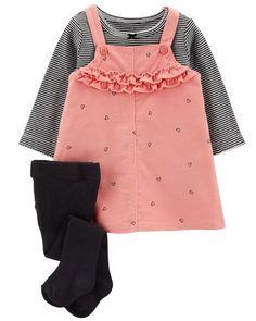 a38f511b8b6 3-Piece Corduroy Jumper Set. Outfits NiñosToddler Girl OutfitsBaby  DressBaby Girl DressesCarters ...
