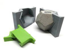 2 cubo jardinera  silicona  geométricas molde  molde