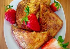 Stuffed Strawberry Cream French Toast Recipe -  Yummy this dish is very delicous. Let's make Stuffed Strawberry Cream French Toast in your home!