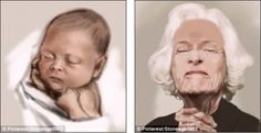 """South Korean illustrator Seok Jeong Hyeonskillfully captures a woman's aging process from babyhood to old age, in a single digital """"live"""" drawing. He draws a baby girl and then edits the drawing to represent her different stages of life until she is a..."""