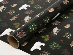 Holiday Animals Wrapping Paper for Christmas by clapclapdesign