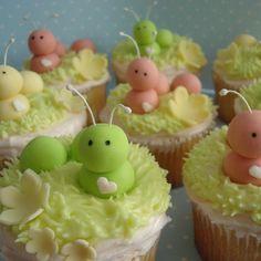 @Kathleen DeCosmo ♡♡ #Cupcakes ♡♡ Caterpillar Cupcake Inspiration
