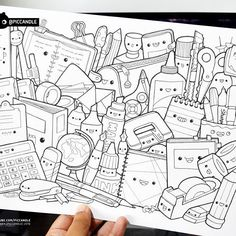 #inktober Day 4 - Stationery #inktober2016 #doodle #coloringpage
