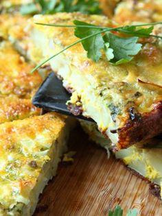 Ομελέτα φούρνου με πατάτες και κολοκύθι