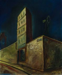 Haus mit Windrad, 1928 by Walter Schulz-Matan (German 1889-1965)