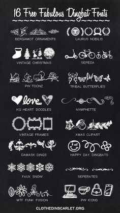 Dingbat fonts are just so cool! Here are 16 free fabulous dingbat fonts to make your images sizzle.
