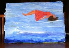"""Carrie 1"". acrylics.  ....A feeling of weightlessness, or freedom.  Ber 1/11/2011."