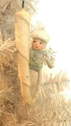 Jack Frost on Icicle in Spun Cotton от AquaMarineQueen на Etsy