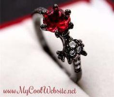 Garnet Dragon Rings