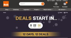 In just over 8 hours time on December 1 you will be able to enjoy the new B&Q Christmas 12 Days of Deals, this is when you can get to enjoy the most awesome one deal per day for 12 days. 8 Hours, Christmas Countdown, When You Can, 12 Days, Christmas Inspiration, News Today, December, Events, Awesome