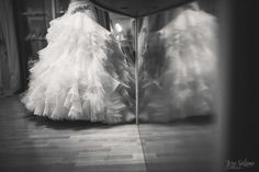 Dat tulle! Wedding dress and bride, black & wwhite. Wedding Photography by Jere Satamo.