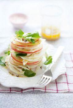 Pinterest cuisine : millefeuille pomme poire fenouil