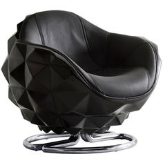 Andrew Martin Atom Chair ($2,365) ❤ liked on Polyvore featuring home, furniture, chairs, accent chairs, black, black lacquer furniture, hand made furniture, black swivel chair, black furniture and lacquer furniture