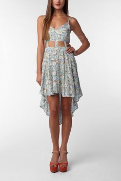 Reverse Lattice Waist High/Low Dress, $69.00 at Urban Outfitters.  Love this!