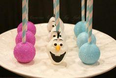Disney's Frozen Olaf cake pops
