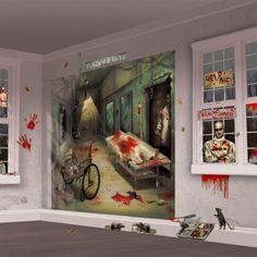 Spooky-Halloween-Party-Backdrop-Decoration-Prop-Asylum-Scene-Setters-Kit-Indoor