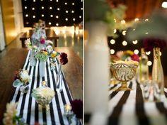 striped table runner, D'Avello Photography, Hustle & Bustle