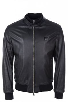 d77d14a7a Antony Morato Leather Bomber Jacket Black | Designer Menswear | Intro  Clothing