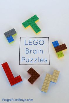 Building Challenge for Kids: Brain Puzzles LEGO Brain Puzzles - An open-ended building challenge for kids! Perfect for a LEGO club. Create a puzzle and see if a family member or friend can solve it. Two puzzle designs in the post.LEGO Brain Puzzles - An o Lego Club, Lego For Kids, Puzzles For Kids, Puzzle Games For Kids, Lego Duplo, Lego Challenge, Lego Activities, Lego Building, Lego Creations