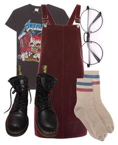 """picture yourself in a boat on a river"" by qimmig on Polyvore featuring MadeWorn, Topshop, RED Valentino and Dr. Martens"