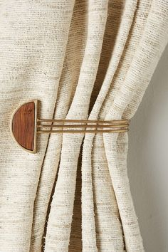 Hemisphere Tieback by Anthropologie from Anthropologie. Saved to curtains . Shop more products from Anthropologie on Wanelo. Home Curtains, Curtains With Blinds, Curtain Accessories, Home Accessories, Bohemian Room Decor, Bohemian Apartment, Curtain Hardware, Curtain Designs, Home Hardware