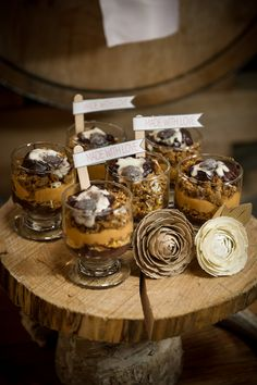 Rustic Wedding Favors   Rustic Inspiration Shoot by Simply by Tamara Nicole.  Amber French Photography. Dessert Table by One Divine Party.