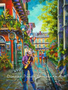 ◘ Pirate Sax ◘  By New Orleans Artist, Dianne Parks    Every day of the week, the streets of the Big Easy are alive with vibrant music, much