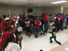 Reaction of Derrick Henry's family from a hospital in Jacksonville. Family gathered with Derrick's grandmother.