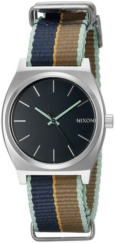 Nixon Women's A0452079 Time Teller Stainless Steel Watch With Multi-Color Band * See this great watch.